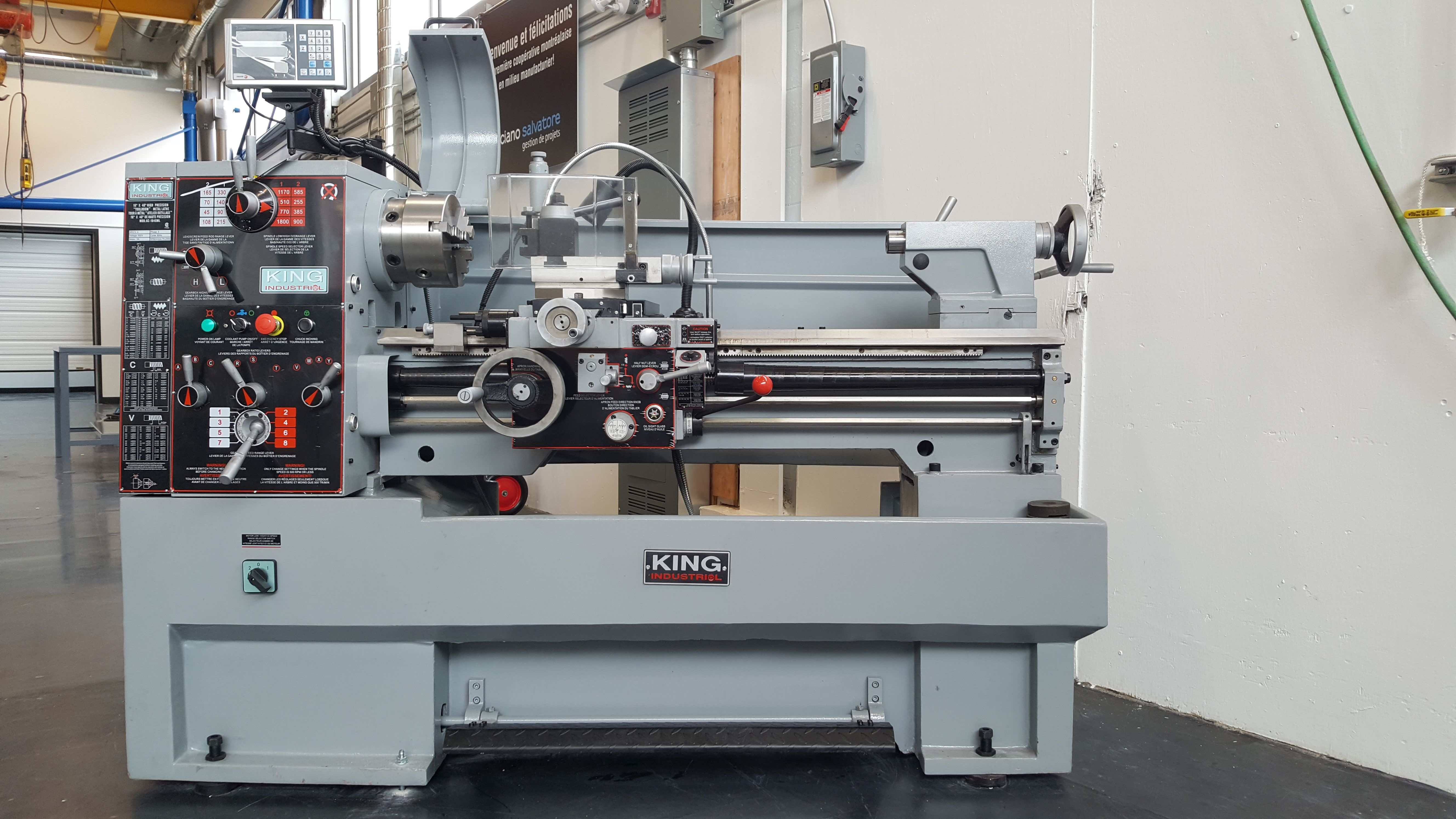 Lathe Machining Space manufactures